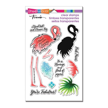 Stampendous Clear Stamps FLAMINGO MESSAGES ssc1278