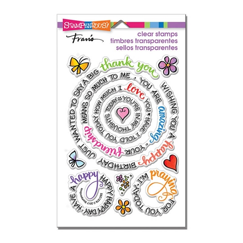 Stampendous Clear Stamps CIRCULAR MESSAGES ssc1276 Preview Image