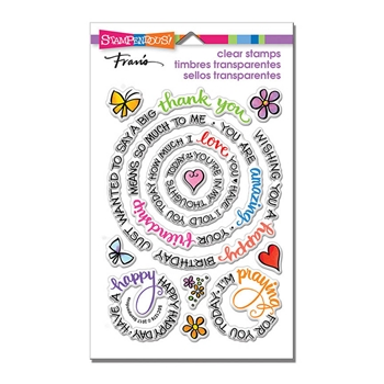 Stampendous Clear Stamps CIRCULAR MESSAGES ssc1276