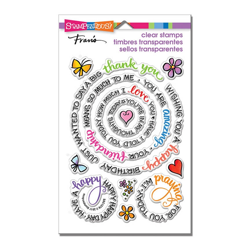 Stampendous Clear Stamps CIRCULAR MESSAGES ssc1276 zoom image