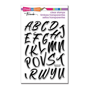 Stampendous Clear Stamps BRUSH ALPHABET CAPS ssc1273