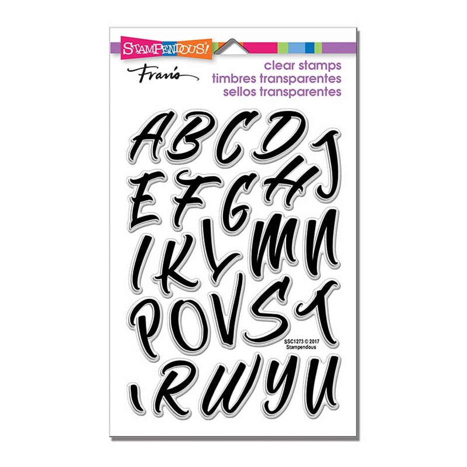 Stampendous Clear Stamps BRUSH ALPHABET CAPS ssc1273 zoom image