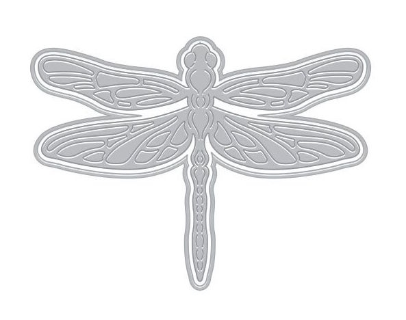 Hero Arts Fancy Die Paper Layering DRAGONFLY with Frame DI454 zoom image