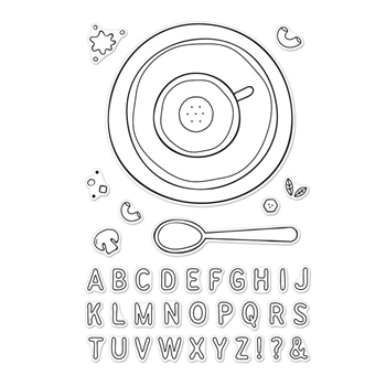 Hero Arts Clear Stamps ALPHABET SOUP CM233