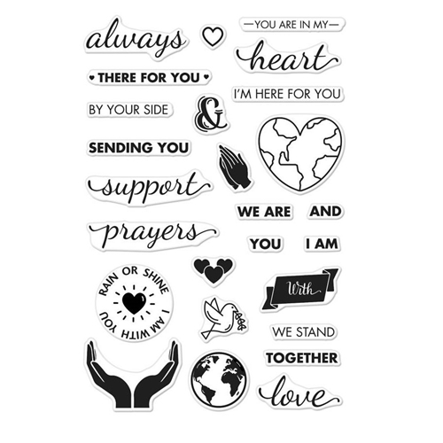 Hero Arts Clear Stamps SUPPORT PRAYERS LOVE CM219 Preview Image