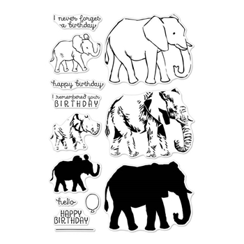 Hero Arts Clear Stamps COLOR LAYERING  ELEPHANT CM224