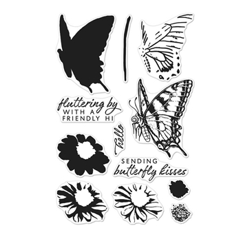 Hero Arts Clear Stamps COLOR LAYERING SWALLOWTAIL CM225