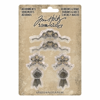 Tim Holtz Idea-ology RIBBONS & BOWS Adornments th93686