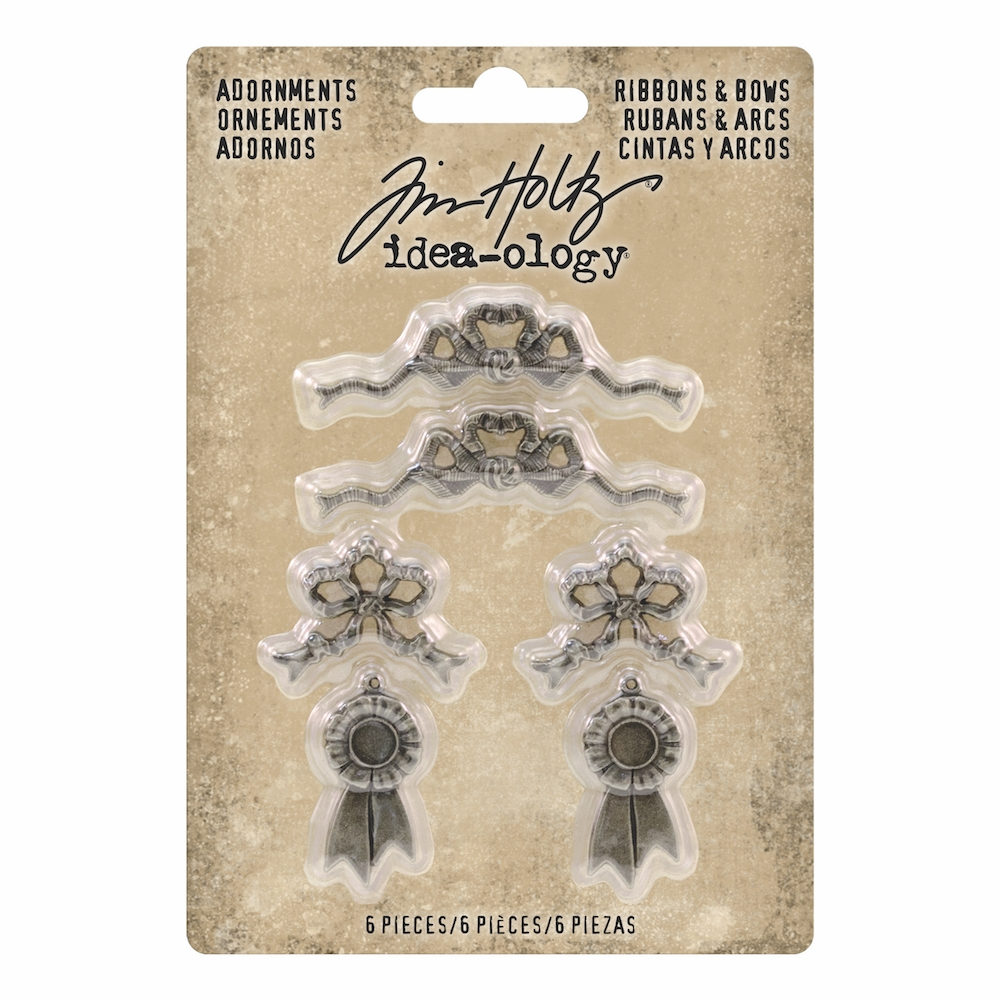 RESERVE Tim Holtz Idea-ology RIBBONS & BOWS Adornments th93686 zoom image