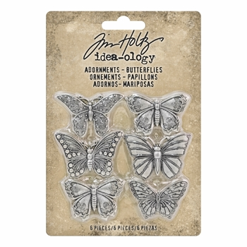 RESERVE Tim Holtz Idea-ology BUTTERFLIES Adornments th93689