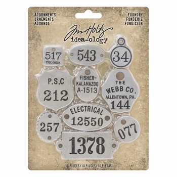 RESERVE Tim Holtz Idea-ology FOUNDRY Adornments th93690