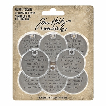 Tim Holtz Idea-ology QUOTE TOKENS th93691