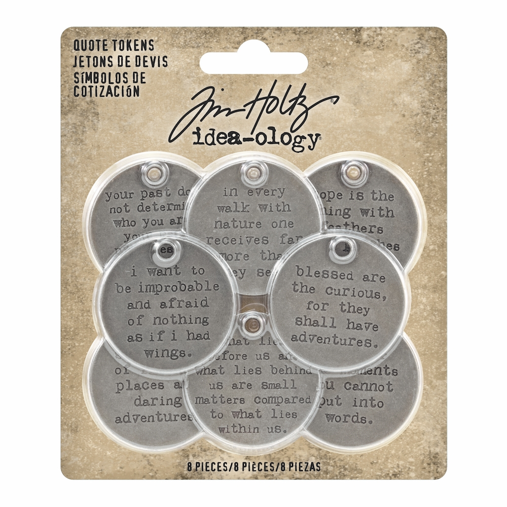 Tim Holtz Idea-ology QUOTE TOKENS th93691 zoom image