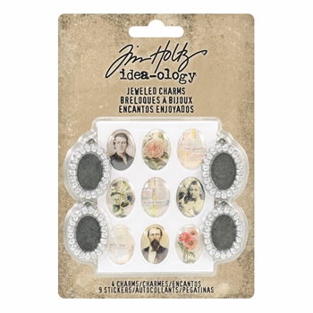 RESERVE Tim Holtz Idea-ology JEWELED CHARMS th93697