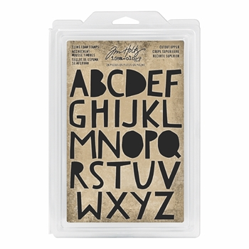 RESERVE Tim Holtz Idea-ology CUTOUT UPPER Cling Foam Stamps th93699