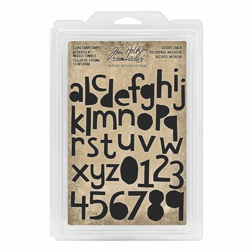Tim Holtz Idea-ology CUTOUT LOWER Cling Foam Stamps th93700 Preview Image