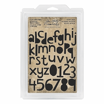 RESERVE Tim Holtz Idea-ology CUTOUT LOWER Cling Foam Stamps th93700