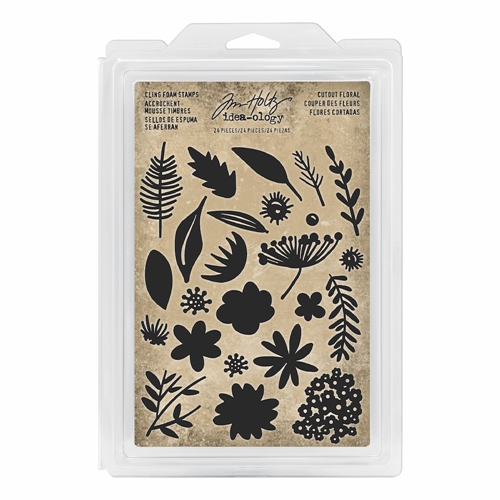 Tim Holtz Idea-ology CUTOUT FLORAL Cling Foam Stamps th93703 Preview Image