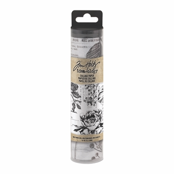 RESERVE Tim Holtz Idea-ology BOTANICAL Collage Paper th93705