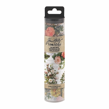 RESERVE Tim Holtz Idea-ology FLORAL Collage Paper th93707