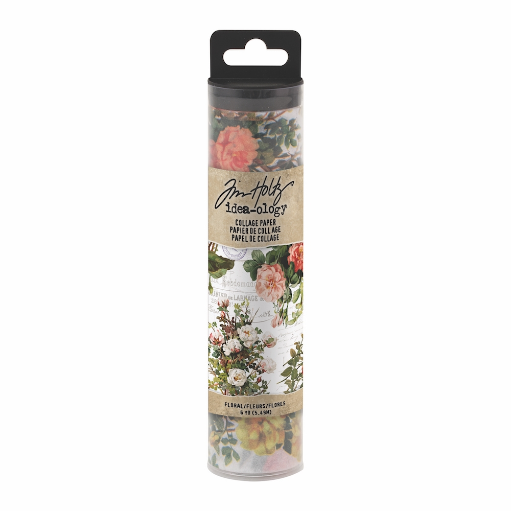 Tim Holtz Idea-ology FLORAL Collage Paper th93707 zoom image