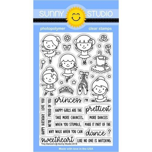 Sunny Studio TINY DANCERS Clear Stamp Set SSCL-183 Preview Image