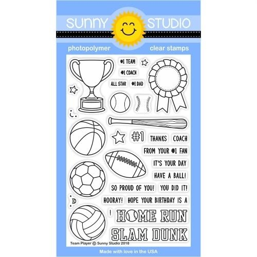 Sunny Studio TEAM PLAYER Clear Stamp Set SSCL-184 Preview Image