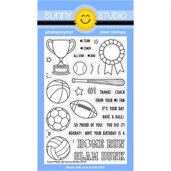 Sunny Studio TEAM PLAYER Clear Stamp Set SSCL-184
