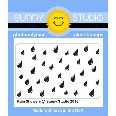 Sunny Studio RAIN SHOWERS Clear Stamp Set SSCL-189 Preview Image