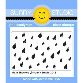 Sunny Studio RAIN SHOWERS Clear Stamp Set SSCL-189
