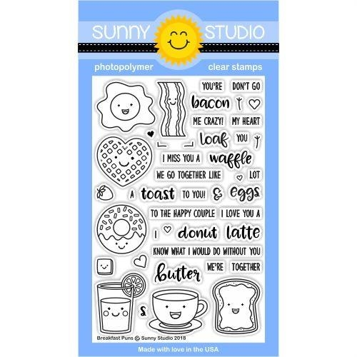 Sunny Studio BREAKFAST PUNS Clear Stamp Set SSCL-181 Preview Image
