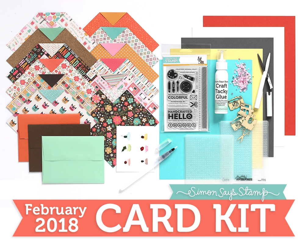 Simon Says Stamp Card Kit of The Month FEBRUARY 2018 A COLORFUL CRAFTY LIFE ck0218 zoom image