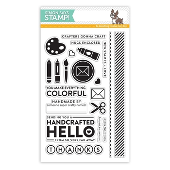 Simon Says Clear Stamps CRAFTY FRIEND sss101715