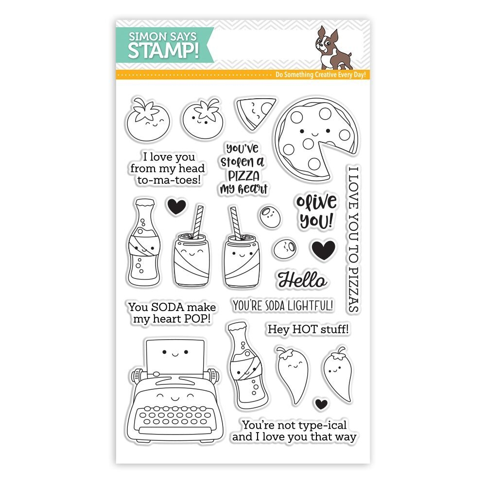 Simon Says Clear Stamps FOODIE FRIENDS sss101819 Love zoom image