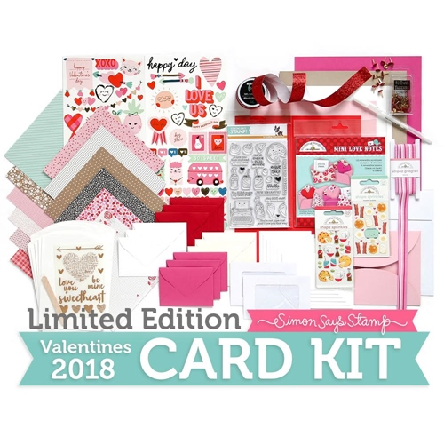 Limited Edition Simon Says Stamp Card Kit VALENTINES 2018 sssvck Preview Image