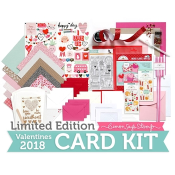 Limited Edition Simon Says Stamp Card Kit VALENTINES 2018 sssvck