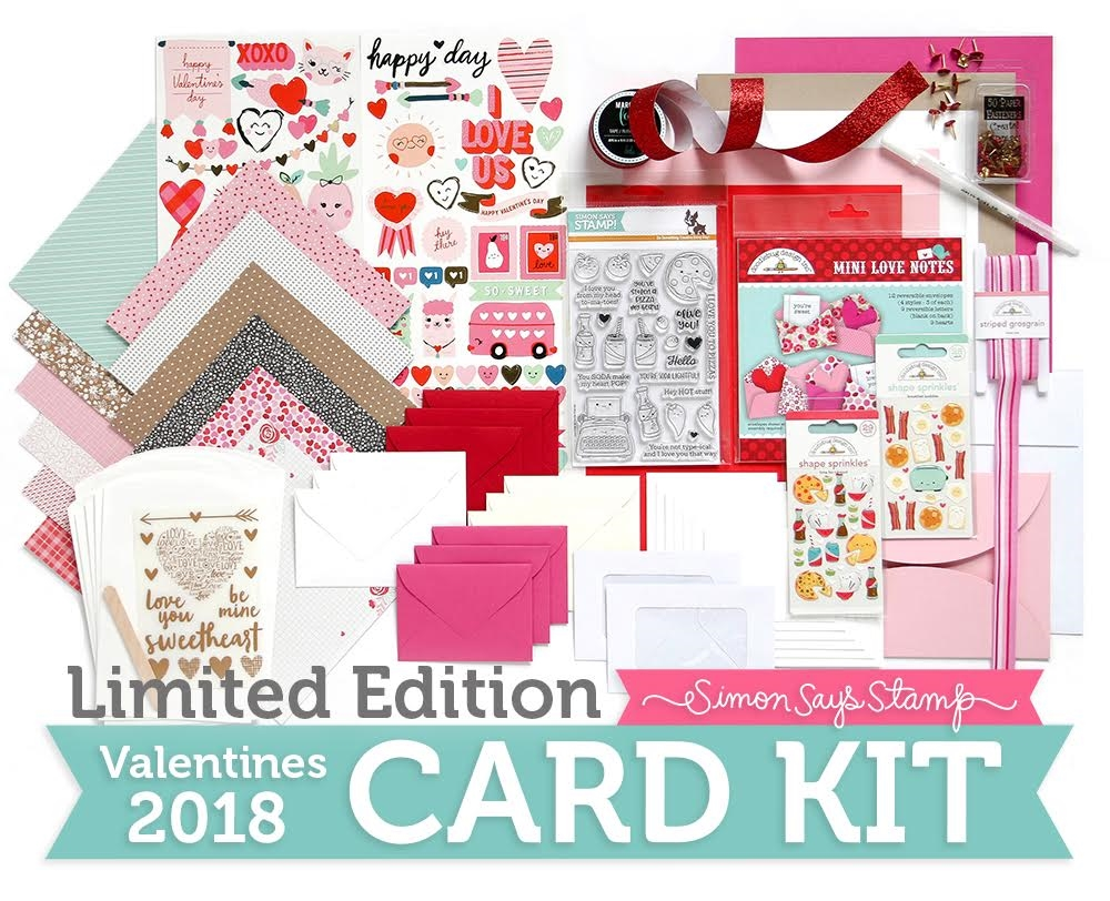 Limited Edition Simon Says Stamp Card Kit VALENTINES 2018 sssvck zoom image