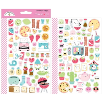 Doodlebug SO PUNNY Mini Icons Stickers 5913