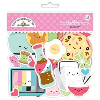 Doodlebug SO PUNNY Odds and Ends Die Cut Shapes 5903