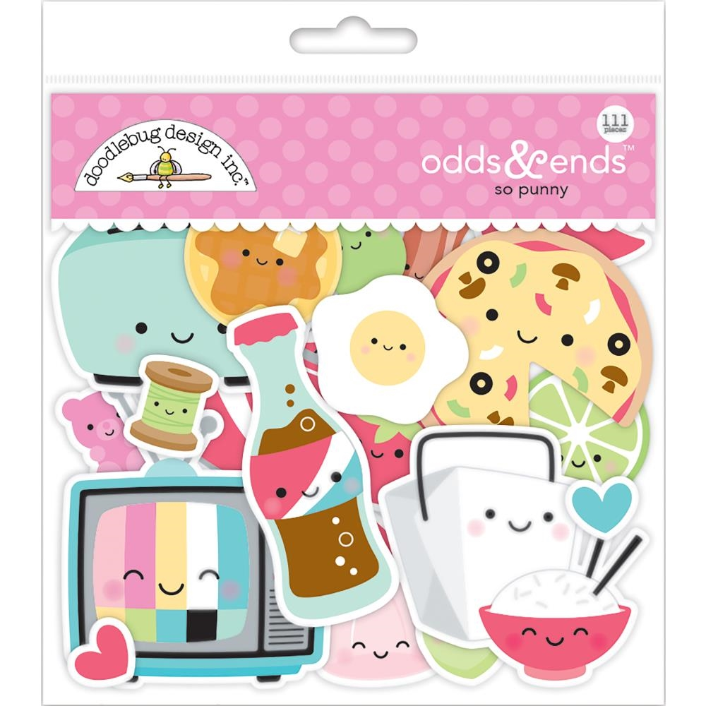 Doodlebug SO PUNNY Odds and Ends Die Cut Shapes 5903 zoom image