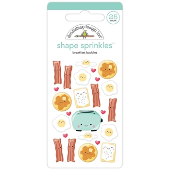 Doodlebug BREAKFAST BUDDIES Shape Sprinkles So Punny 5835