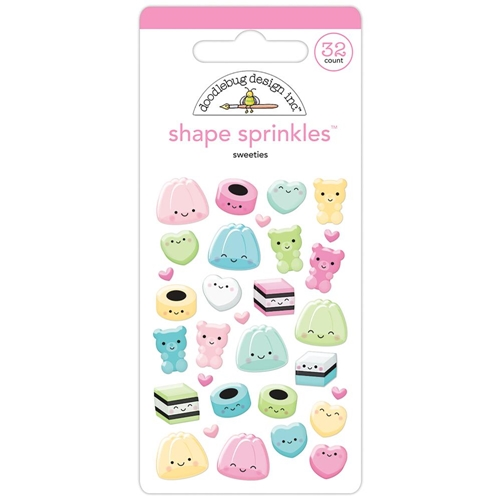 Doodlebug SWEETIES Shape Sprinkles So Punny 5837 Preview Image