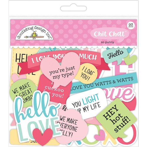 Doodlebug CHIT CHAT So Punny Die Cut Shapes 5904 Preview Image