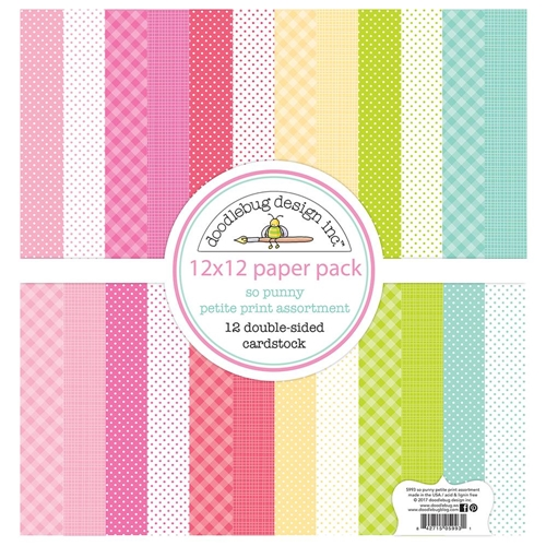 Doodlebug SO PUNNY 12x12 Inch Petite Prints Cardstock 5993 Preview Image