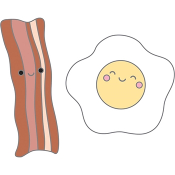 Doodlebug BACON AND EGGS So Punny Collectable Enamel Pins 5918
