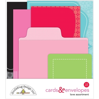 Doodlebug LOVE Cards and Envelopes 5824