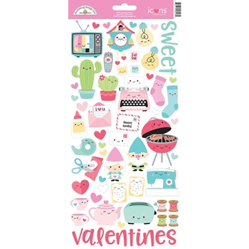 Doodlebug SO PUNNY FRIENDS ICONS Cardstock Stickers 6013