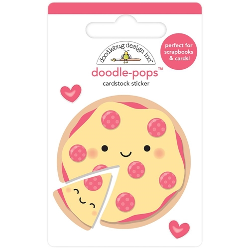 Doodlebug PIZZA LOVE Doodle Pops 3D Stickers So Punny 5853 Preview Image