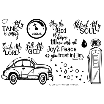 Joy Clair REFUEL MY SOUL Clear Stamp Set clr02146