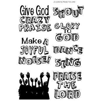 Joy Clair PRAISE THE LORD Clear Stamp Set clr02156